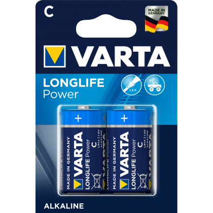 Varta Longlife Power C B2 / Vorher Varta High Energy C B2